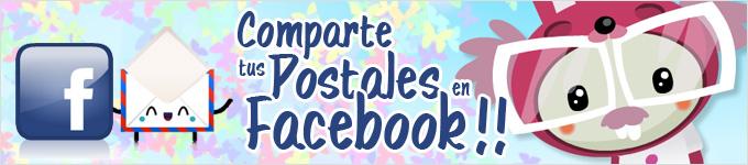 cuteki tarjetas postales para facebook