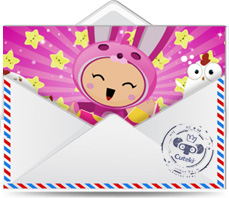 Cuteki postal animada